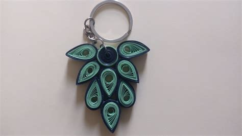 How To Make A Paper Keychain - paper quilling keychain my crafts and diy projects