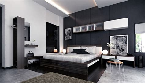 good room designs zwart wit slaapkamer met moderne decoratie fotospecial
