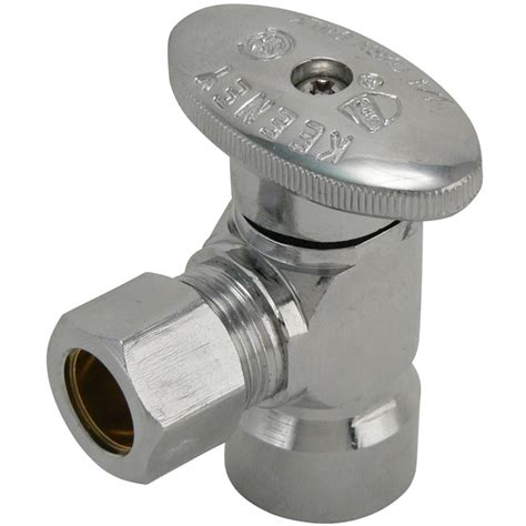 Keeney Plumbing by Shop Keeney Mfg Co Chrome Quarter Turn Angle Valve At Lowes