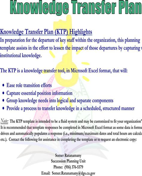 download knowledge transfer template for free formtemplate