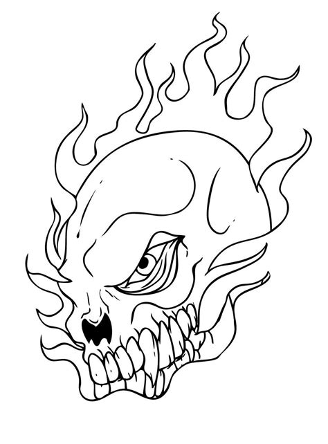 Free Skull Coloring Pages Free Skull In Flames Coloring Pages by Free Skull Coloring Pages