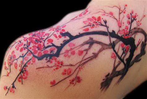cherry blossom back tattoo designs 53 beautiful cherry blossoms shoulder tattoos