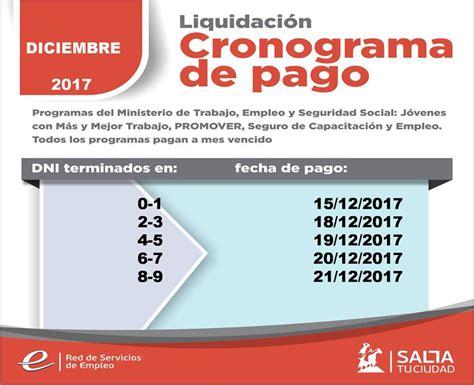 cronograma de pago de los programas del ministerio de trabajo a partir del viernes comienza el pago a beneficiarios de