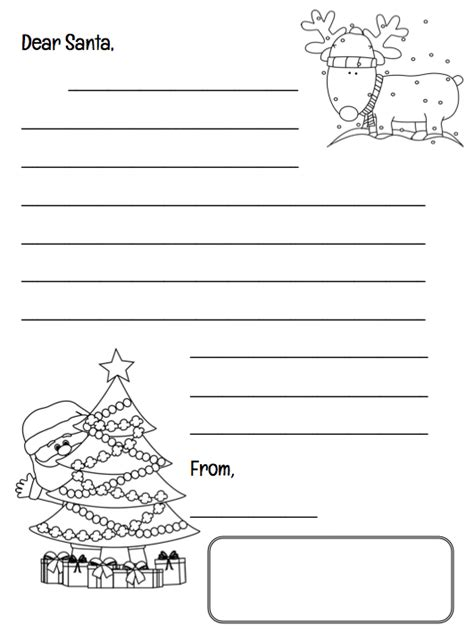 letter to santa template grade 1 christmas countdown grade onederful