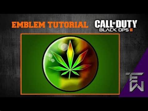 tutorial logo emblem black ops 3 emblem tutorial weed logo bo3 youtube