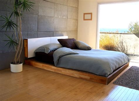 headboard of the bed co op eco modern platform bed and optional storage
