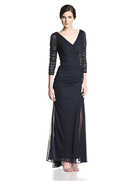 adrianna papell drape covered gown aesthetic official adrianna papell women s 3 4 sleeve