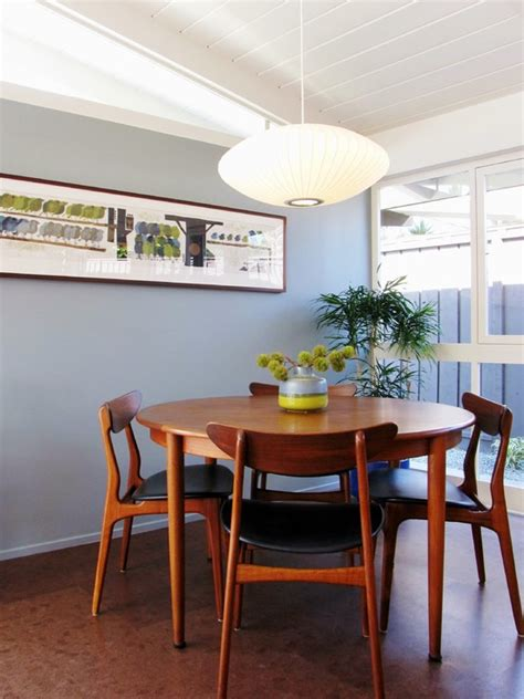 Mid Century Modern Kitchen Table by Modern Kitchen Tables For Small Spaces