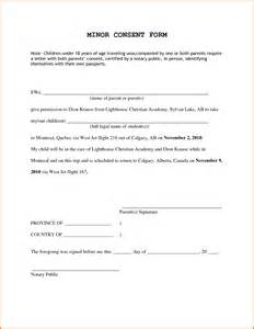 travel consent form for minors minor travel consent form