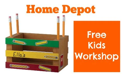 home depot workshop make a pencil holder 8 2