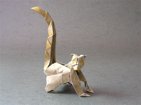 Origami Lemur - ring tailed lemur rom 225 n d 237 az tissue foil happy folding
