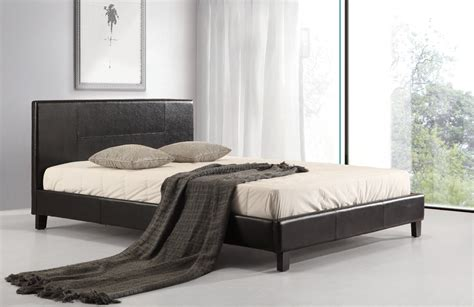 queen black bed frame queen pu leather bed frame black