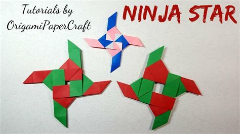 origami tutorial ninja star origami how to make a ninja star origami