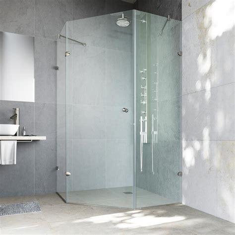 Vigo Verona 40 In X 73 375 In Frameless Neo Angle Shower Corner Glass Shower Doors Frameless