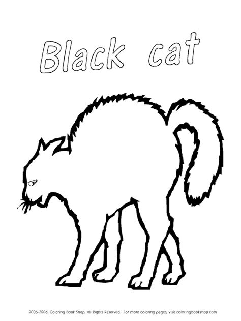 coloring pages black cats for halloween black cat coloring page