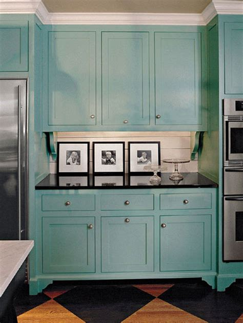 Turquoise Painted Kitchen Cabinets Cabinet Paint Colors 7 Colorful Choices For The Kitchen