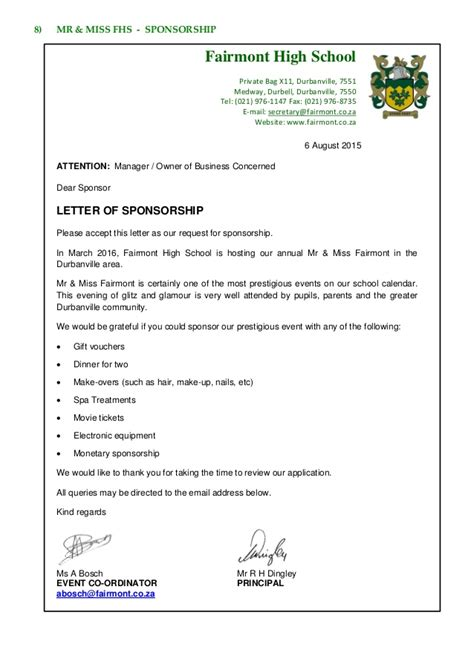 Sponsorship Letter For Annual Dinner Lucky Draw Fairmont Focus 24 6 August 2015
