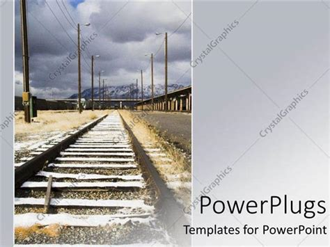 railway themes for powerpoint powerpoint template a long rail road track dissaperaing