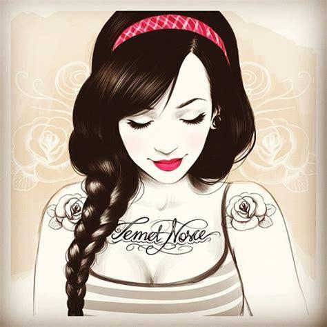 cartoon girl tattoo tumblr buscando sirenas en mares de arena dibujo tati ferring