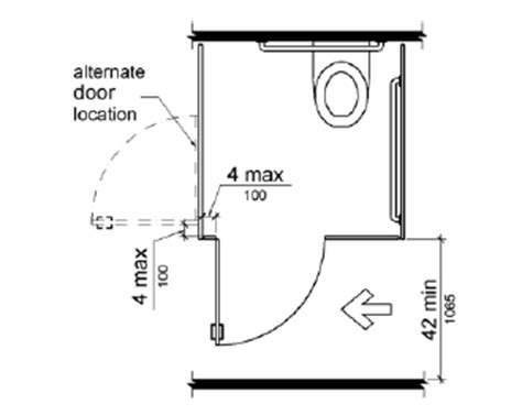 Ada Water Closet Dimensions by The Compartment Door Is Hinged 4 Inches 100 Mm Maximum
