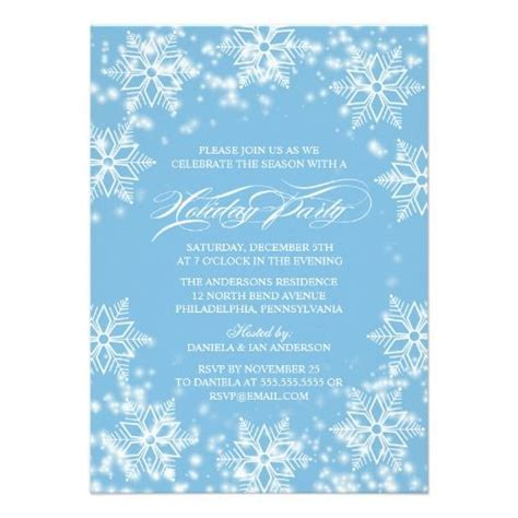 winter invitation template winter invitation