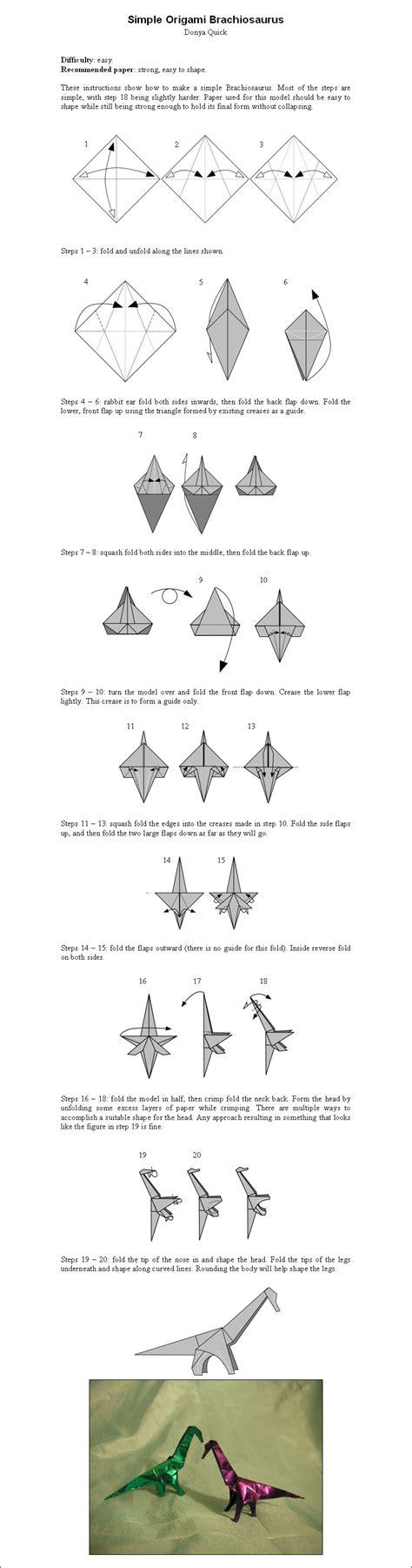 Origami Dinosaur Diagram - origami dinosaurs a list of origami dinosaur