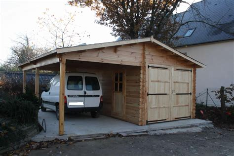 Garage Car Port by Wooden Garage With Carport
