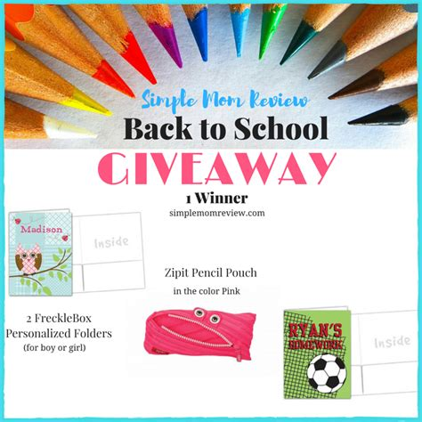 Back To School Giveaways - back to school giveaway simple mom review