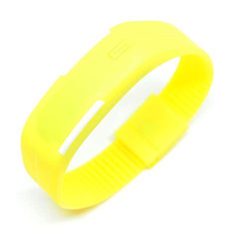 Jam Tangan Led Sport Logo jam tangan led gelang sport no logo yellow