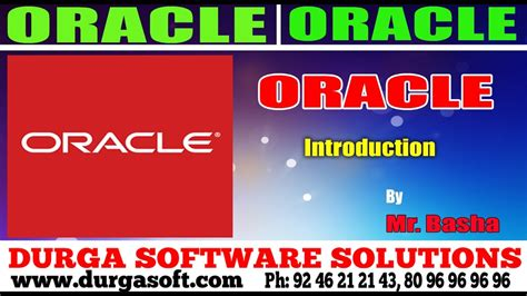 Oracle Tutorial Introduction | oracle tutorial oracle introduction by basha youtube