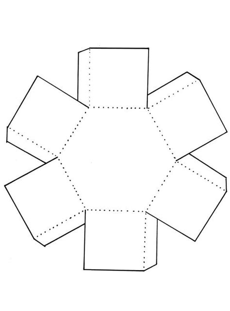Kapers In Scrapping Hexagon Box Template