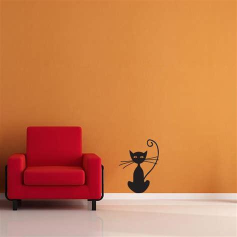 cat wall sticker black cat wall decal wall decal world