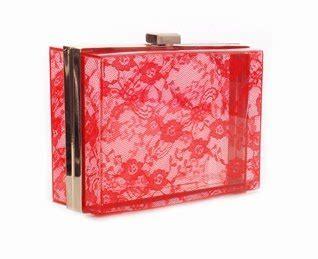 Acrylic Lace Box Clutch   Red: Handbags: Amazon.com