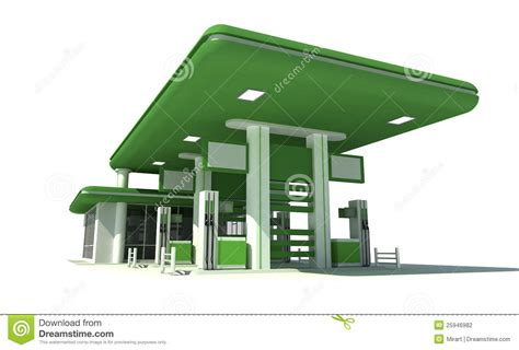 Free Garage Plans And Designs gas station 3d stock photography image 25946982