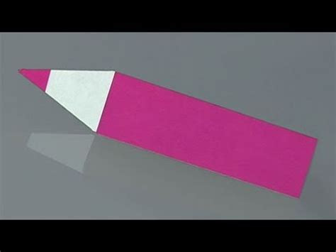 How To Make A Paper Pencil - how to make a paper pencil origami