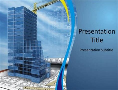 Powerpoint Templates Building Construction Construction With Blue Powerpoint Templates Backgrounds Of Building Construction
