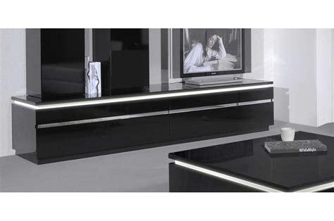 meuble tv 220 cm blanc ou noir brillant trendymobilier