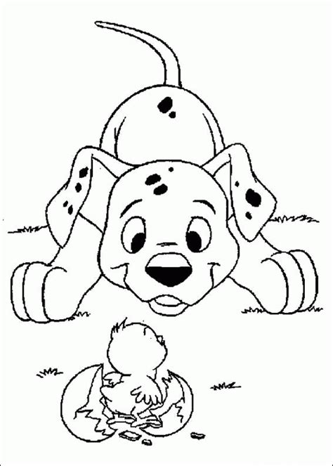 free coloring pages of dalmatian 101 dalmations coloring pages