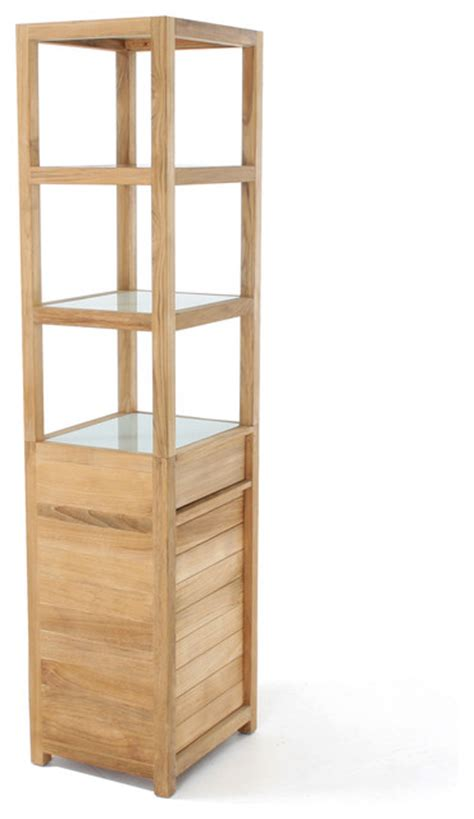 teak bathroom storage pacifica teak bathroom organizer contemporary bathroom