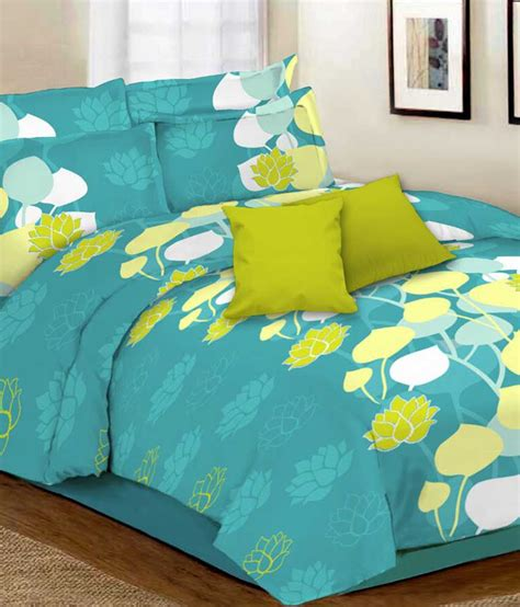 double bed sheets desirica floral double bed sheet with 2 pillow covers