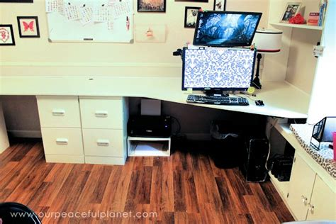 how to build a home office desk how to build a simple large surface home office desk
