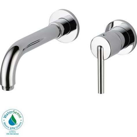 delta wall mount kitchen faucet delta trinsic wall mount single handle low arc bathroom faucet in chrome
