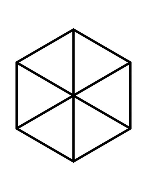 Geometry The Fraction Of The Larger Hexagon That Is - fractions of 6 sided polygon clipart etc