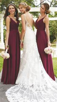 bridesmaids dresses for a wedding best 20 burgundy bridesmaid ideas on winter