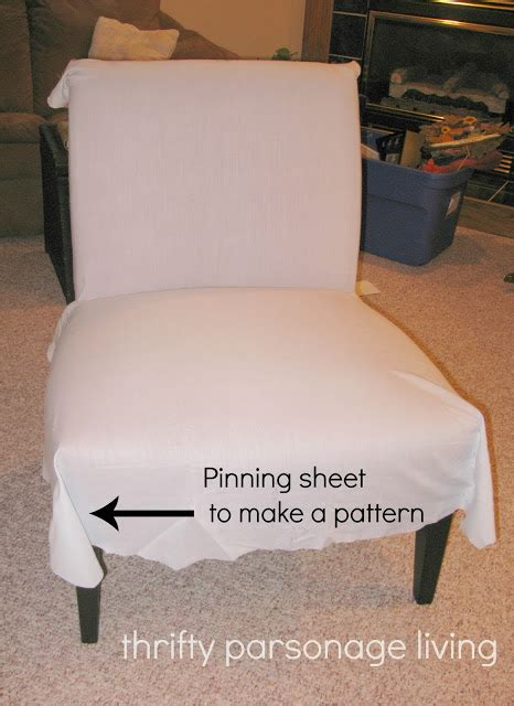 diy slipcover chair thrifty parsonage living diy chair slipcover