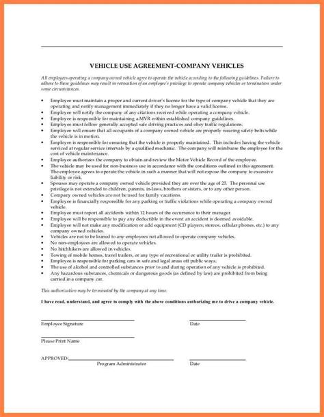 3 company car policy template company letterhead