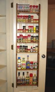 door mount wood spice rack for pantry doors