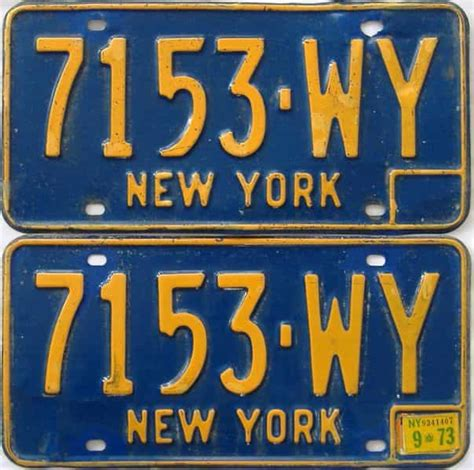 New Plates Are by New York Plates For Sale At The Tag Dr