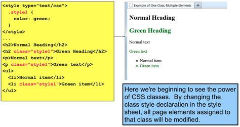 css tutorial multiple classes classes and ids web design