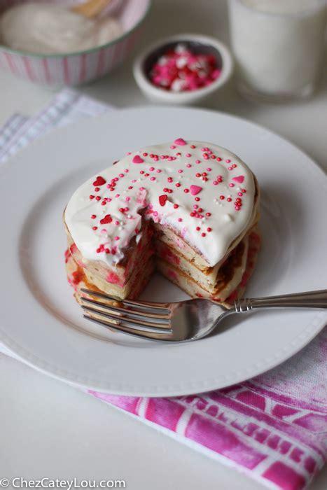 valentines day pancakes s funfetti pancakes with vanilla yogurt